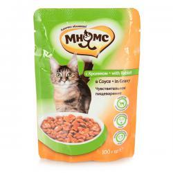 Корм для кошек «Мнямс» с кроликом в соусе