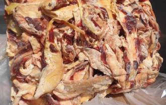 Мясо и мясные субпродукты 45% (курица мин. 14%, индейка мин. 12%)