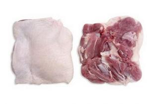Свежее мясо утки без костей