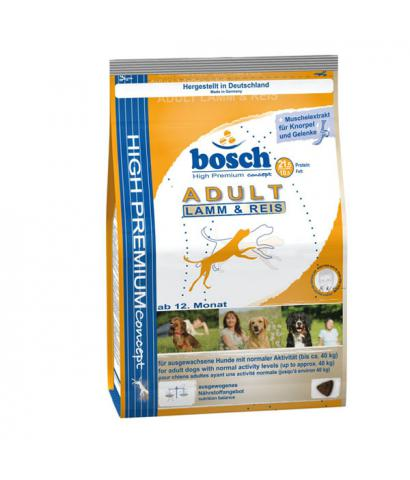 Старый дизайн упаковки корма Bosch Adult Lamb & Rice