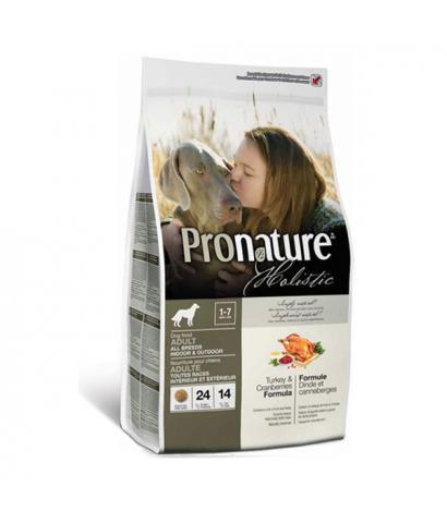 Pronature Holistic Adult All Breeds Indoor & Outdoor Turkey & Cranberries
