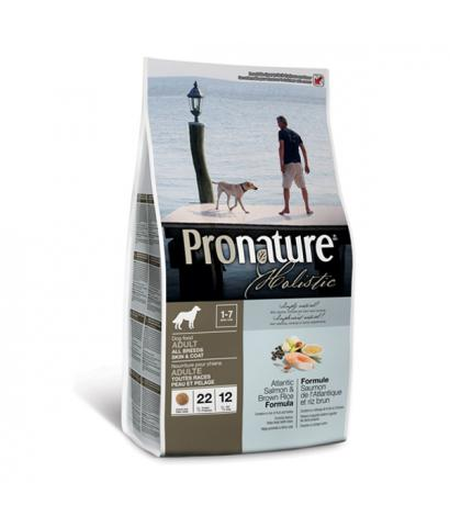 Pronature Holistic Adult All Breeds Skin & Coat Atlantic Salmon & Brown Rice