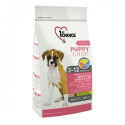 Корм для щенков 1st Choice Puppy Sensitive Skin & Coat Lamb, Fish & Brown Rice