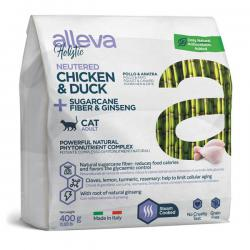 Корм для кошек Alleva Holistic Adult Cats Neutered Chicken & Duck + Sugarcane Fiber & Ginseng
