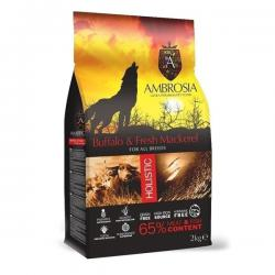 Корм для собак Ambrosia Adult Dog Buffalo & Fresh Mackerel Grain Free