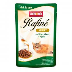 Корм для кошек Animonda Rafine Adult Cat Mit Rind, Gans + Apfel Viel Sauce