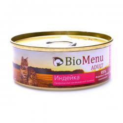 Корм «Биоменю» — мясной паштет для кошек с индейкой