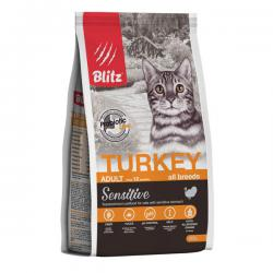 Корм для кошек Blitz Adult Cat Sensitive Turkey