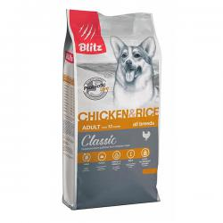 Корм для собак Blitz Classic Adult Dog Chicken & Rice