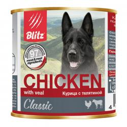 Корм для собак Blitz Classic Dog Chicken with Veal — «Курица с телятиной»