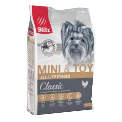 Корм для собак Blitz Classic Dog Mini & Toy Chicken