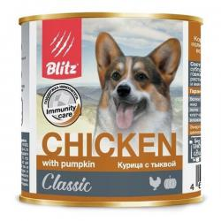 Корм для собак Blitz Dog Classic Chicken with Pumpkin