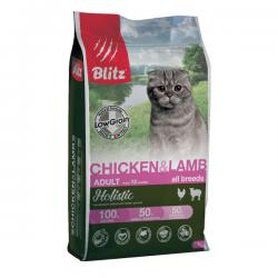 Корм для кошек Blitz Holistic Adult Cat Chicken & Lamb Hypoallergenic Low Grain