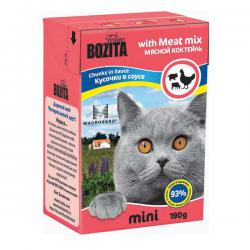 Корм для кошек Bozita Feline Mini Meat Mix — Chunks in Sauce