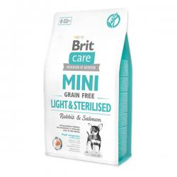 Корм для собак Brit Care Adult Dog Mini Light & Sterilised Rabbit & Salmon Grain Free Hypoallergenic