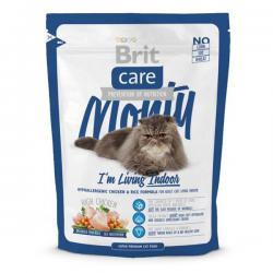 Корм для кошек Brit Care Cat Monty I'm Living Indoor — Chicken & Rice Hypoallergenic