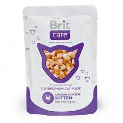 Корм для котят Brit Care Kitten Chicken & Cheese — Real Meat in Gravy