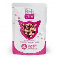Корм для кошек Brit Care Real Meat in Gravy — Chicken & Duck