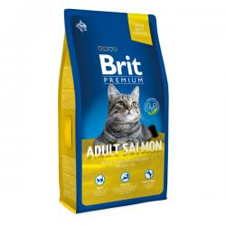 Корм для кошек Brit Premium Adult Cat — Delicate Salmon and Salmon Gravy