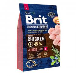 Корм для щенков Brit Premium By Nature Junior Large Breed Chicken
