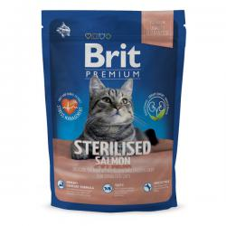 Корм для кошек Brit Premium Cat Sterilised — Salmon with Chicken and Chicken Liver