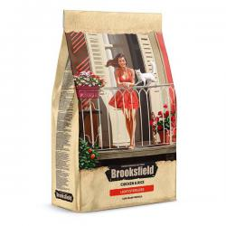 Корм для кошек Brooksfield Adult Cat Chicken & Rice Light/Sterilized Low Grain