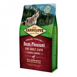 Корм для кошек Carnilove Adult Cat Hairball Control Duck & Pheasant Grain Free