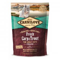 Корм для кошек Carnilove Adult Cat Sterilised Fresh Carp & Trout Grain Free