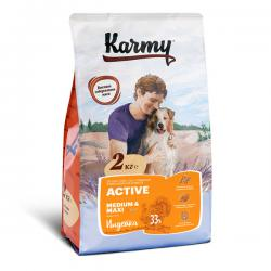 Корм для собак Karmy Adult Dog Active Medium & Maxi «Индейка»