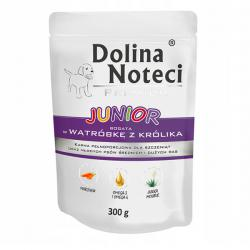 Корм для щенков Dolina Noteci Premium Junior Bogata Watrόbke z Krόlika — Puppies and Young Dogs Rich in Rabbit Liver