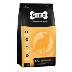 Корм для кошек Gina Adult Cat Rabbit & Rice