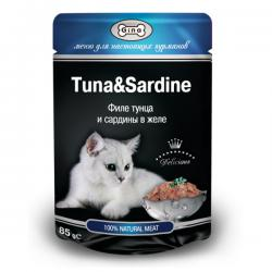 Корм для кошек Gina Cat Tuna & Sardine in Jelly