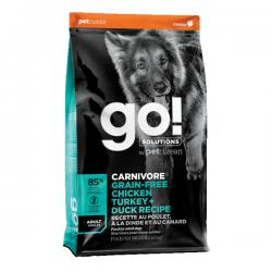 Корм для собак GO! Solutions Carnivore Adult Dog Chicken, Turkey + Duck Grain Free