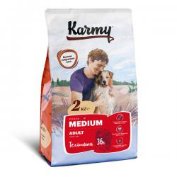 Корм для собак Karmy Adult Dog Medium «Телятина»
