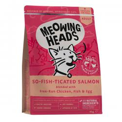 Корм для кошек Meowing Heads «So-Fish-Ticated» Salmon, Free-Run Chicken, Fish & Egg