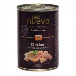 Корм Nuevo Kitten Chicken With Rice & Salmon Oil