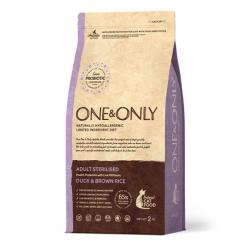Корм для кошек One & Only Adult & Senior Cat Sterilised Duck & Brown Rice Hypoallergenic
