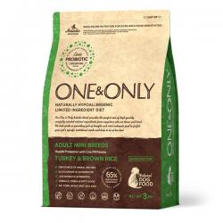 Корм для собак One & Only Dog Adult Mini Turkey & Brown Rice Hypoallergenic