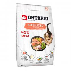 Корм для кошек Ontario Adult Cat Sterilized Salmon