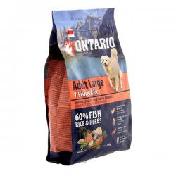 Корм для собак Ontario Adult Dog Large Breed 7 Fish & Rice Hypoallergenic