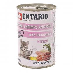 Корм для котят Ontario Kitten Chicken & Shrimps with Rice & Salmon Oil