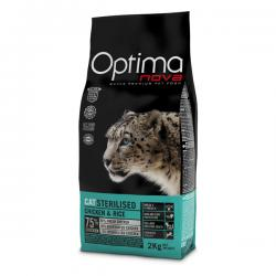 Корм для кошек Optima Nova Adult Cat Sterilised Chicken & Rice