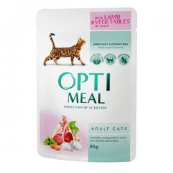 Корм для кошек Optimeal Adult Cat Lamb & Vegetables in Gelly