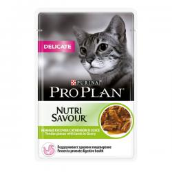 Корм для кошек Purina Pro Plan Nutri Savour Delicate — Tender Pieces with Lamb in Gravy