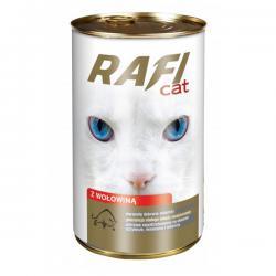 Корм для кошек Rafi — кусочки в соусе с говядиной