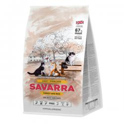 Корм для кошек Savarra Adult Cat Light/Sterilized Turkey & Rice Hypoallergenic