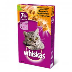 Whiskas Вкусные подушечки с паштетом - Аппетитное ассорти с мясом птицы для кошек старше 7 лет