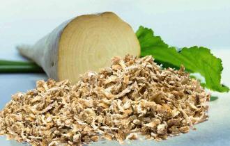 Продукты переработки растительного сырья (5,4% сухой мякоти свеклы; 0,07% сухой петрушки, что эквивалентно 0,4% петрушки*)