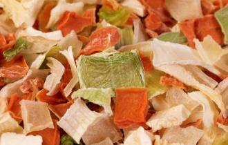 Сушёные овощи