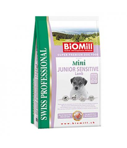 Biomill Swiss Mini Junior Sensitive Lamb
